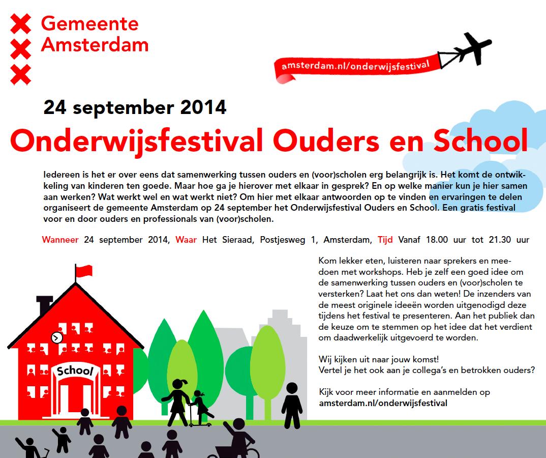 Onderwijsfestival ouders en School, 24 september 2014 in Het Sieraad